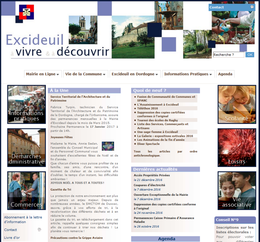 site ville excideuil